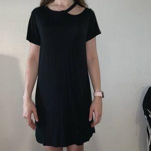 Casual Black Cutout Dress